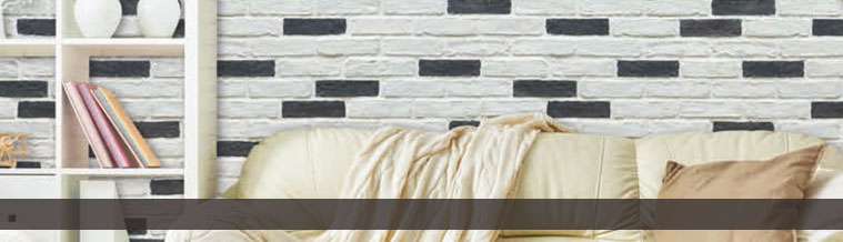 Wandverblender in Backsteinoptik City Brick Schwarz / Weiß - <span style='color:#fff;font-size:10px'>Zum Zoomen klicken</span>