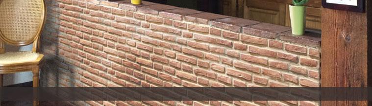 Nuestra gama de plaquetas de ladrillo de piedra for Plaquetas decorativas para exterior