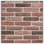 Red - Decorative brick collection Granulit 20-30
