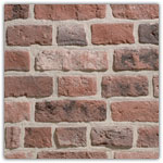 Red - Decorative brick collection Granulit 50