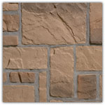 genuanceerd bruin - Natuursteenstrippen Murok Rustic