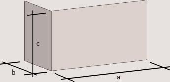 Dimension d'un mur