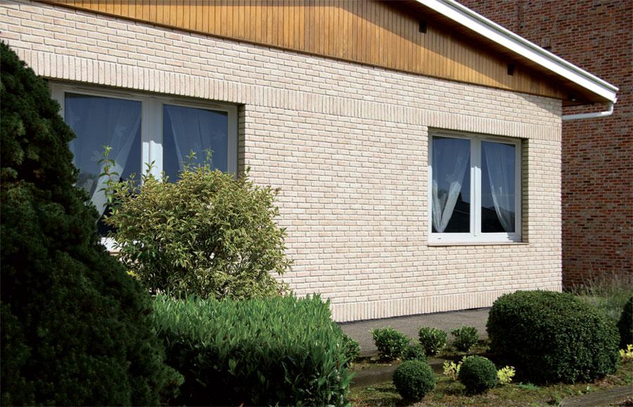 Interfix plaquettes de brique en pierre reconstitu e - Parement pierre seche exterieur ...